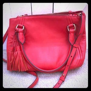 J Crew leather handbag.